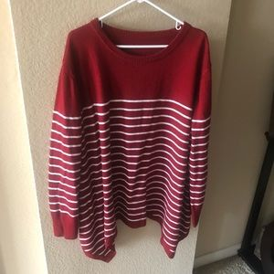 Deep Red Sharkbite Sweater